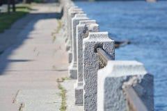 Fence of embankment of Fontanka River Stock Photography