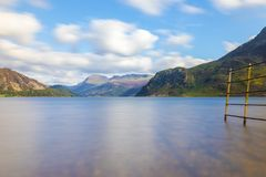 Fence into Ennerdale Water, Cumbria, the Lake District, England Royalty Free Stock Photography