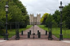 Fence at the entrance to the Windsor castle. Royalty Free Stock Images
