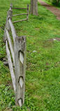 Fence At The Farm. Post And Rail Fence At The Farm Stock Photography