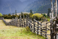 Fence and Field Stock Photography