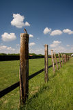 Fence in the field Stock Image