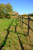 Fence on a field Royalty Free Stock Photos