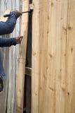 Fence fixing Stock Image
