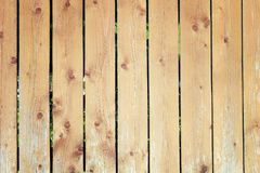 The fence of flat boards. Wooden vertical bars. Background with old wood texture. The fence of flat boards. Wooden vertical bars. Beautiful background with old royalty free stock image