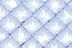 Fence with frost 1 Royalty Free Stock Image