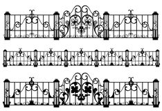 Fence and gate vector Royalty Free Stock Photos