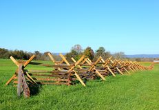 Fence at gettysburg Stock Image