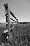 Fence in Gettysburg, PA. The end of a wooden fence on Confederate Avenue in Gettysburg, Pennsylvania Royalty Free Stock Images
