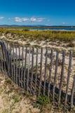 Fence On Giens Peninsula,Salt Pan-Hyeres,France Stock Images
