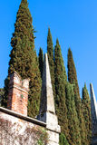 Fence of giusti garden in Verona city in spring Stock Photography