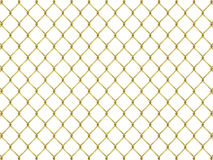 Fence from golden mesh Royalty Free Stock Images