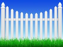 Fence with grass Stock Photo