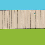 Fence and Grass Background Stock Photos