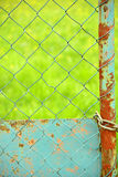 Fence with green background Stock Photography