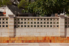 Fence in a grid Stock Image