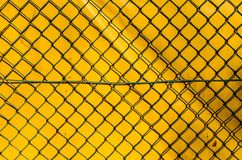 The Fence, The Grid, Yellow Royalty Free Stock Photo