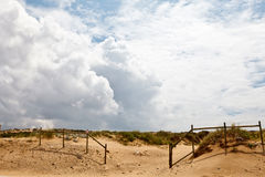 Fence at Guincho Beach Stock Photography