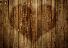 Fence with heart Royalty Free Stock Photo