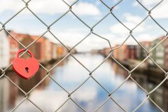 Fence, Heart, Lock Royalty Free Stock Photo