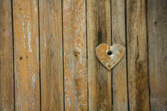 Fence with heart Stock Photography