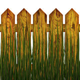 Fence in herb. The fence in herb, on white background, The Illustration 3D. isolated object Royalty Free Stock Images