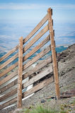 Fence in high mountains Stock Photos