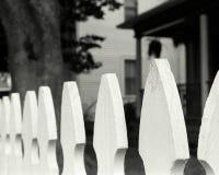 Fence on Highland Ave. Black & White Photograph Royalty Free Stock Photos