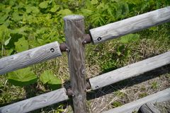 Fence on hill Stock Photography