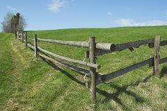 Fence for horses. Wooden Fence for horses stock photos