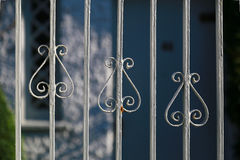Fence of the house. Design of the fence of the entrance of the house Royalty Free Stock Photos