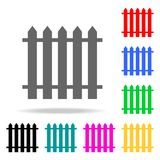 Fence icon. Elements in multi colored icons for mobile concept and web apps. Icons for website design and development, app develop. Ment on white background Royalty Free Stock Image