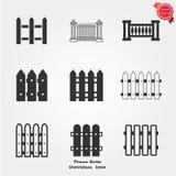Fence icons. Fence icon flat. Black pictogram on white background. Vector illustration symbol Stock Photo
