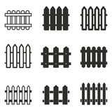 Fence icon set. Fence vector icons set. Black illustration isolated on white background for graphic and web design Royalty Free Illustration