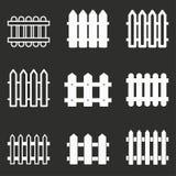Fence icon set. Stock Photos
