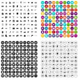 100 fence icons set vector variant. 100 fence icons set vector in 4 variant for any web design isolated on white royalty free illustration
