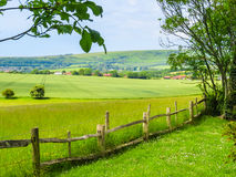 Fence In The Field Royalty Free Stock Photos