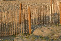 Fence In The Sand Royalty Free Stock Photography