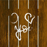 Fence with inscription I love you Stock Photo