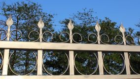 Fence iron. Image was shot in Burgas Bulgaria stock video footage