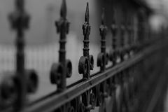 Fence, Iron, Metal, Old Royalty Free Stock Photos