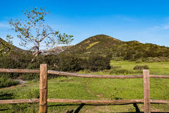 Fence on the Iron Mountain Trail in Poway, California. stock images