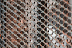 Fence. Iron rusty iron mesh texture of the background Royalty Free Stock Photography