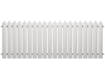 Fence isolated on a white. White fence isolated on a white Stock Photography