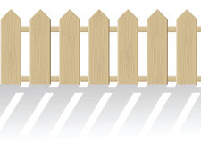 The fence isolated on a white background Royalty Free Stock Photo