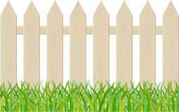 The fence isolated on a white background Stock Images