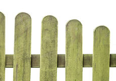 Fence. Isolated wooden fence on white Stock Photos