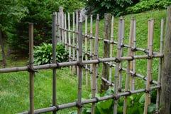 Fence in a Japanese Garden Stock Photos