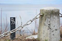 Fence lake Royalty Free Stock Images