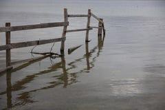 Fence at Lake Constance near Radolfzell Stock Photography